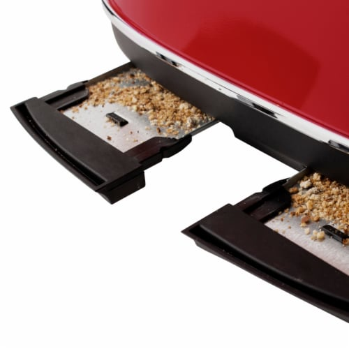Haden Dorset 4-Slice Toaster - Red Perspective: bottom