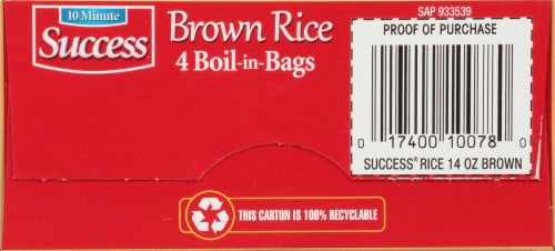 Success® Boil in Bag Whole Grain Brown Rice Perspective: bottom