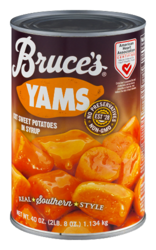 Bruce's Cut Yams in Syrup Perspective: bottom