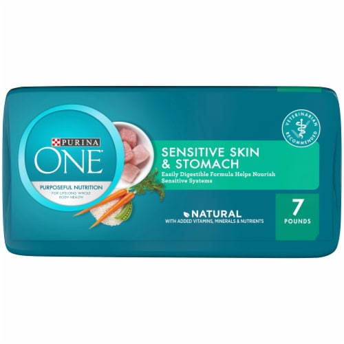 Purina One Sensitive Skin & Stomach Formula Natural Dry Cat Food Perspective: bottom