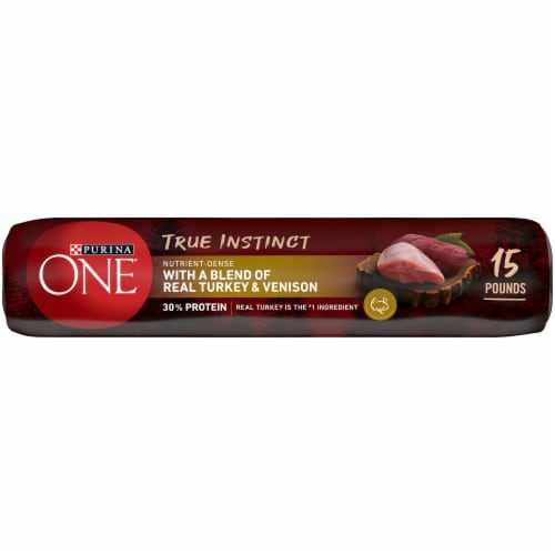 Purina ONE SmartBlend True Instinct with Real Turkey & Venison High Protein Natural Dry Dog Food Perspective: bottom