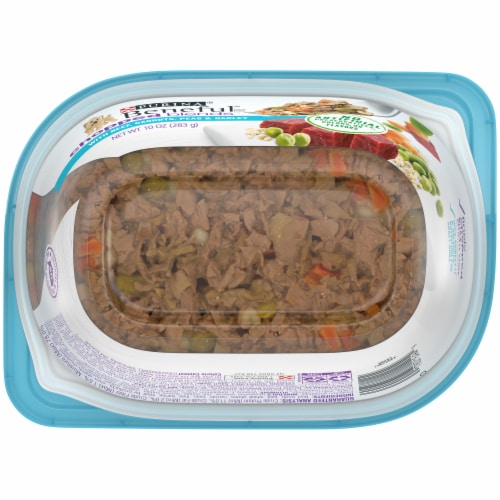 Beneful Chopped Blends Beef Carrots Peas & Barley Wet Dog Food Perspective: bottom
