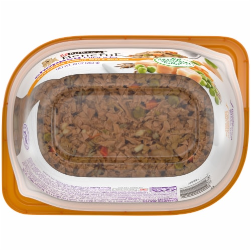 Beneful Chopped Blends with Chicken Carrots Peas & Wild Rice Wet Dog Food Perspective: bottom