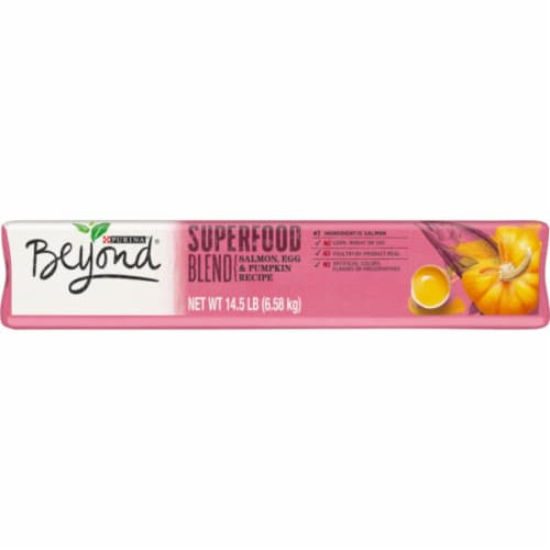 Beyond Superfood Blend Salmon Egg & Pumpkin Recipe Adult Dry Natural Dog Food Perspective: bottom