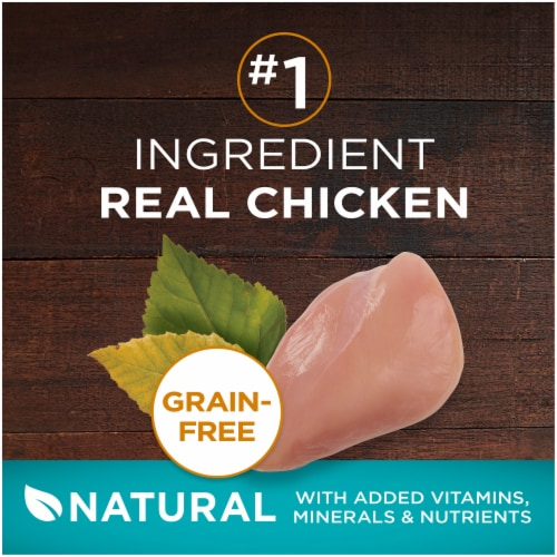 Purina ONE® True Instinct Grain Free with Real Chicken Natural Dry Cat Food Perspective: bottom