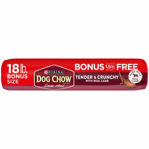 Dog Chow Tender & Crunchy with Real Lamb Adult Dry Dog Food Perspective: bottom