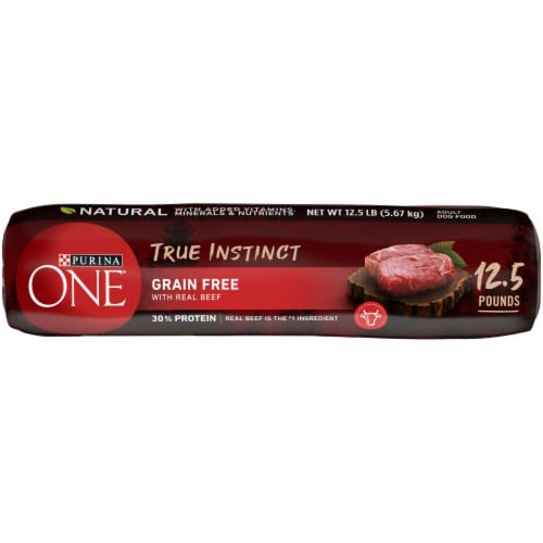 Purina ONE True Instinct Grain Free with Real Beef Natural Adult Dry Dog Food Perspective: bottom