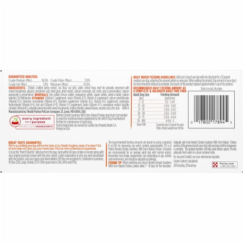 Beneful Simple Goodness with Farm Raised Chicken Adult Dry Dog Food Perspective: bottom