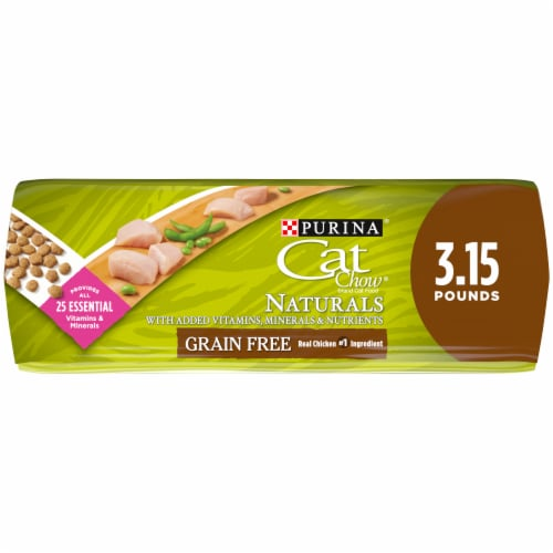 Cat Chow Naturals Grain Free Real Chicken Natural Dry Cat Food Perspective: bottom
