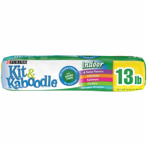 Kit & Kaboodle 4 Tasty Flavors Indoor Dry Cat Food Perspective: bottom