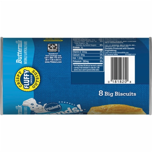 Pillsbury Grands Southern Homestyle Buttermilk Biscuits 8 Count Perspective: bottom