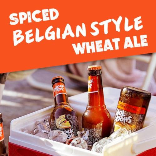 Shock Top Belgian White Ale Beer Perspective: bottom
