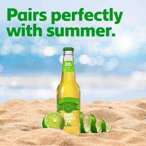 Bud Light Lime Light Lager Beer Perspective: bottom