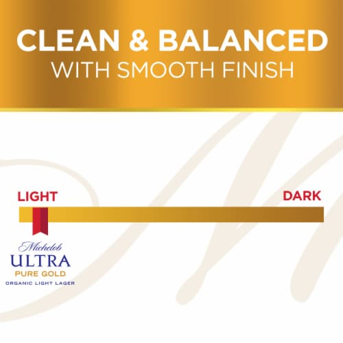 Michelob Ultra Pure Gold Organic Lager Beer Perspective: bottom