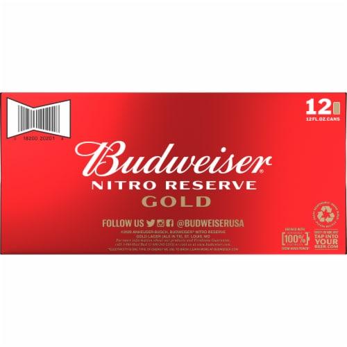 Budweiser® Nitro Reserve Gold Lager Beer Perspective: bottom
