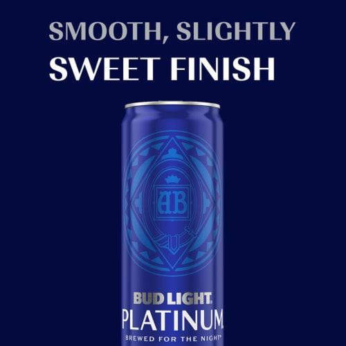 Bud Light Platinum Lager Beer Perspective: bottom
