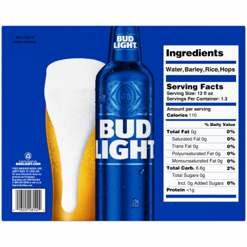 Bud Light® Lager Beer Perspective: bottom