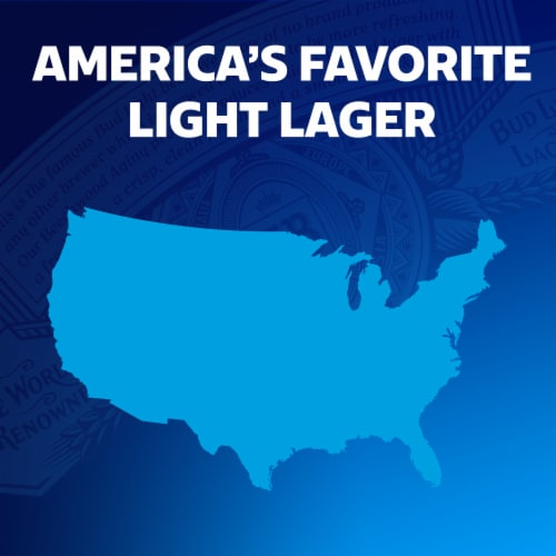 Bud Light Lager Beer Perspective: bottom