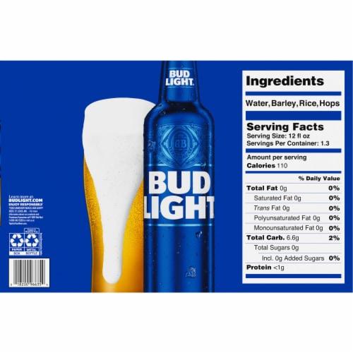 Bud Light Reclosable Aluminum Bottles Perspective: bottom
