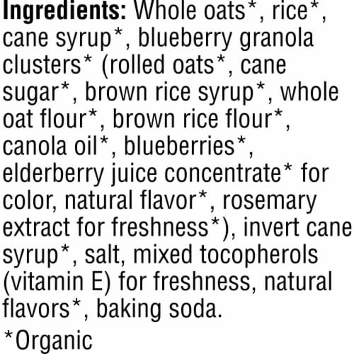 Kashi Organic Breakfast Cereal Blueberry Clusters Perspective: bottom