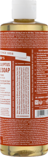 Dr. Bronner's 18-in-1 Hemp Eucalyptus Pure-Castile Liquid Soap Perspective: bottom