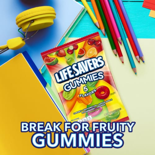 Life Savers 5 Flavors Gummies Candy Perspective: bottom