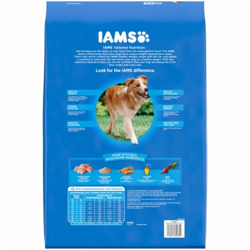 IAMS Healthy Weight with Real Chicken Adult Dry Dog Food Perspective: bottom