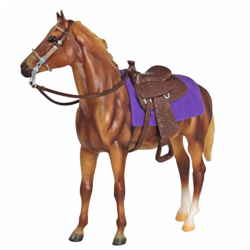 Breyer Freedom Series Western Horse and Rider Doll Kids Toy Set and Accessories Perspective: bottom