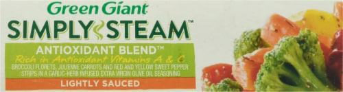 Green Giant Simply Steam Lighty Sauced Antioxidant Blend Vegetables Perspective: bottom