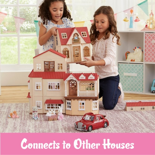 Calico Critters Red Roof Cozy Cottage Doll Set Perspective: bottom