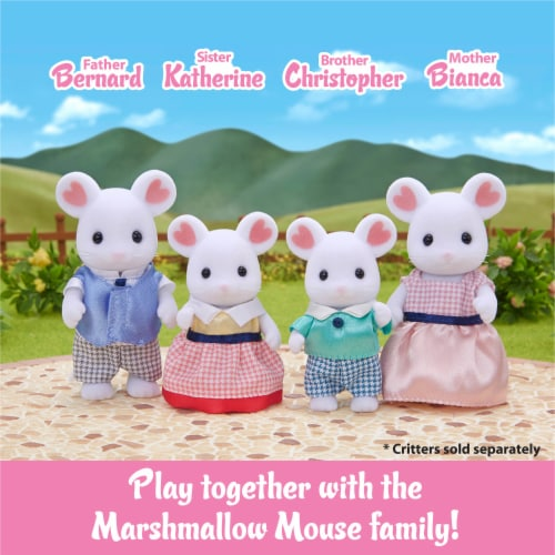 Calico Critters Marshmallow Mouse Triplets Set Perspective: bottom