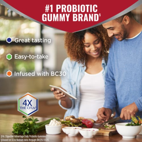 Digestive Advantage Multi-Strain Probiotic Ultra Digestive and Immune Health Gummies Perspective: bottom