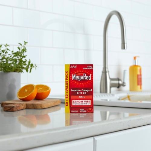 Schiff® MegaRed® Superior Omega-3 Krill Oil Softgels 350mg Perspective: bottom