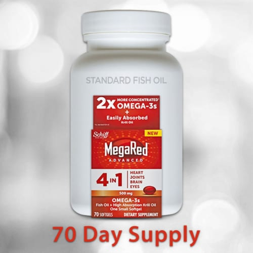 Schiff MegaRed 4 in 1 Omega-3s Value Pack Softgels 500mg Perspective: bottom