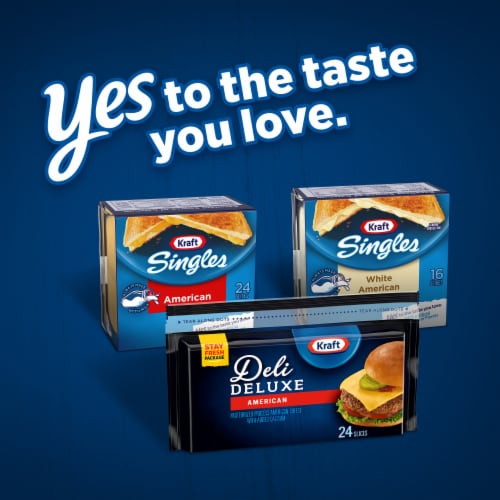 Kraft Deli Deluxe American Cheese Slices Perspective: bottom