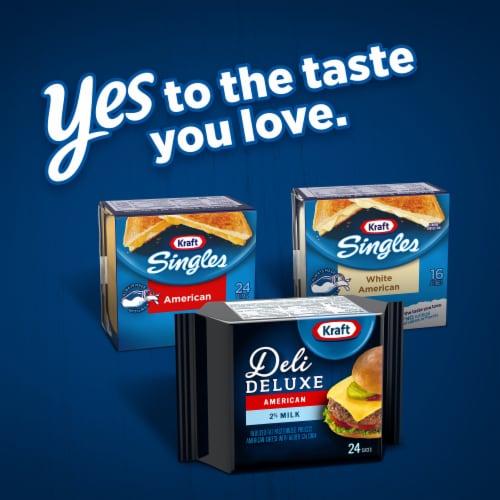 Kraft Deli Deluxe 2% Milk American Cheese Slices Perspective: bottom