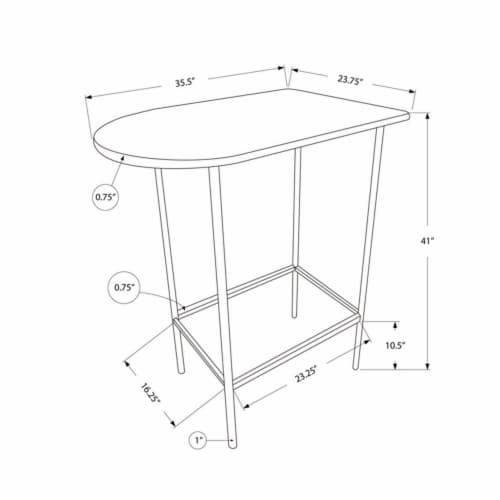 Monarch Faux Marble Top Metal Pub Table in Cappuccino Perspective: bottom