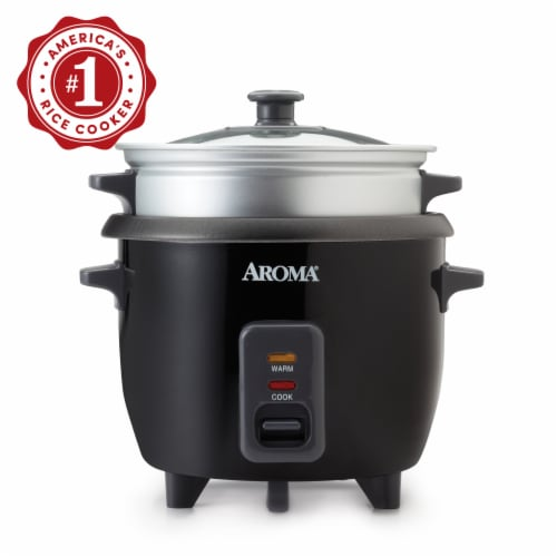Aroma Pot-Style Rice Cooker and Food Steamer - Black/Silver Perspective: bottom