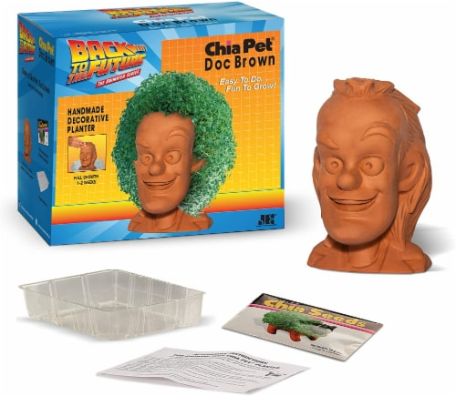 Chia Pet Planter - Back to the Future-  Doc Brown Perspective: bottom