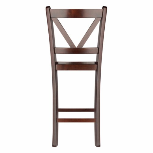 Winsome Victor 24 Inch Tall Solid Wood Counter Bar Stool Set, 2 Piece, Brown Perspective: bottom