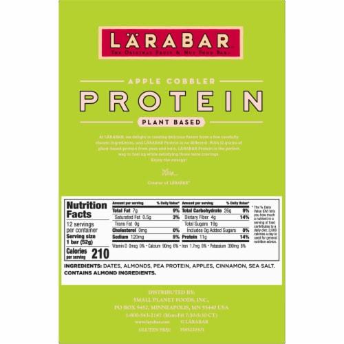 Larabar Apple Cobbler Plant Based Protein Bars Perspective: bottom