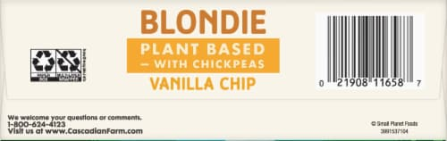 Cascadian Farm™ Organic Vanilla Chip Blondie Soft Baked Squares Perspective: bottom