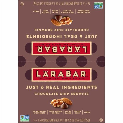 Larabar Chocolate Chip Brownie Fruit & Nut Bars Perspective: bottom
