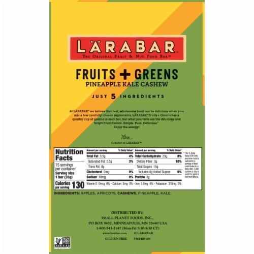 Larabar Fruits + Greens Pineapple Kale Cashew Fruit & Nut Bars 15 Count Perspective: bottom