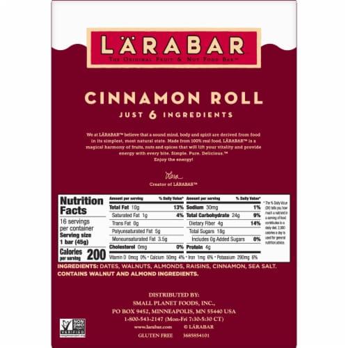 Larabar Cinnamon Roll Fruit & Nut Bars Perspective: bottom
