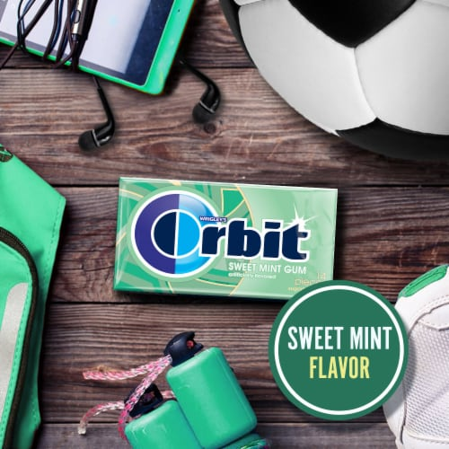 ORBIT Sweet Mint Sugar Free Chewing Gum Perspective: bottom