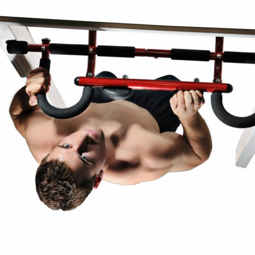 Stamina Products 50-0085 Boulder Fit Door Gym Pull Up Bar & Climbing Hand Holds Perspective: bottom
