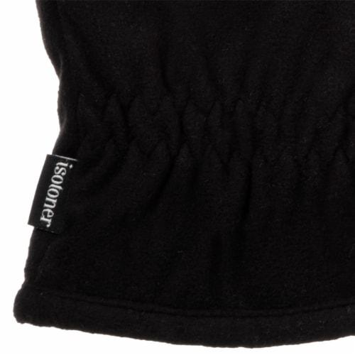 Isotoner® Men's Extra Large Fleece Gloves - Black Perspective: bottom