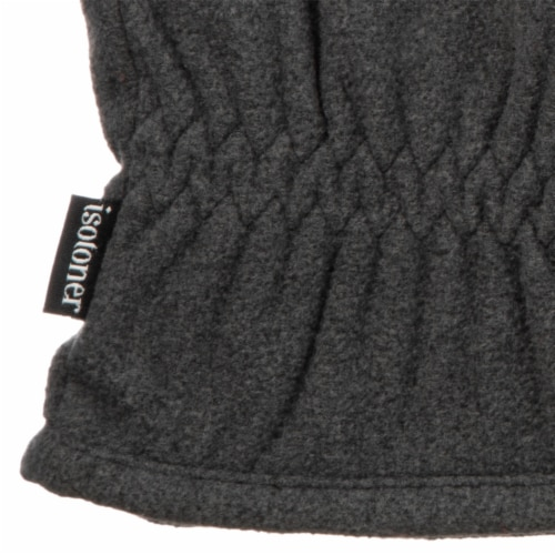 Isotoner­® Men's Extra Large Fleece Gloves - Charcoal Perspective: bottom