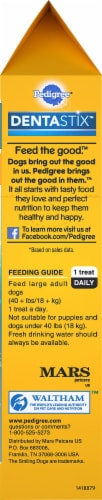 Pedigree® DentaStix™ Triple Action Original Chicken Large Breed Dog Treats Perspective: bottom